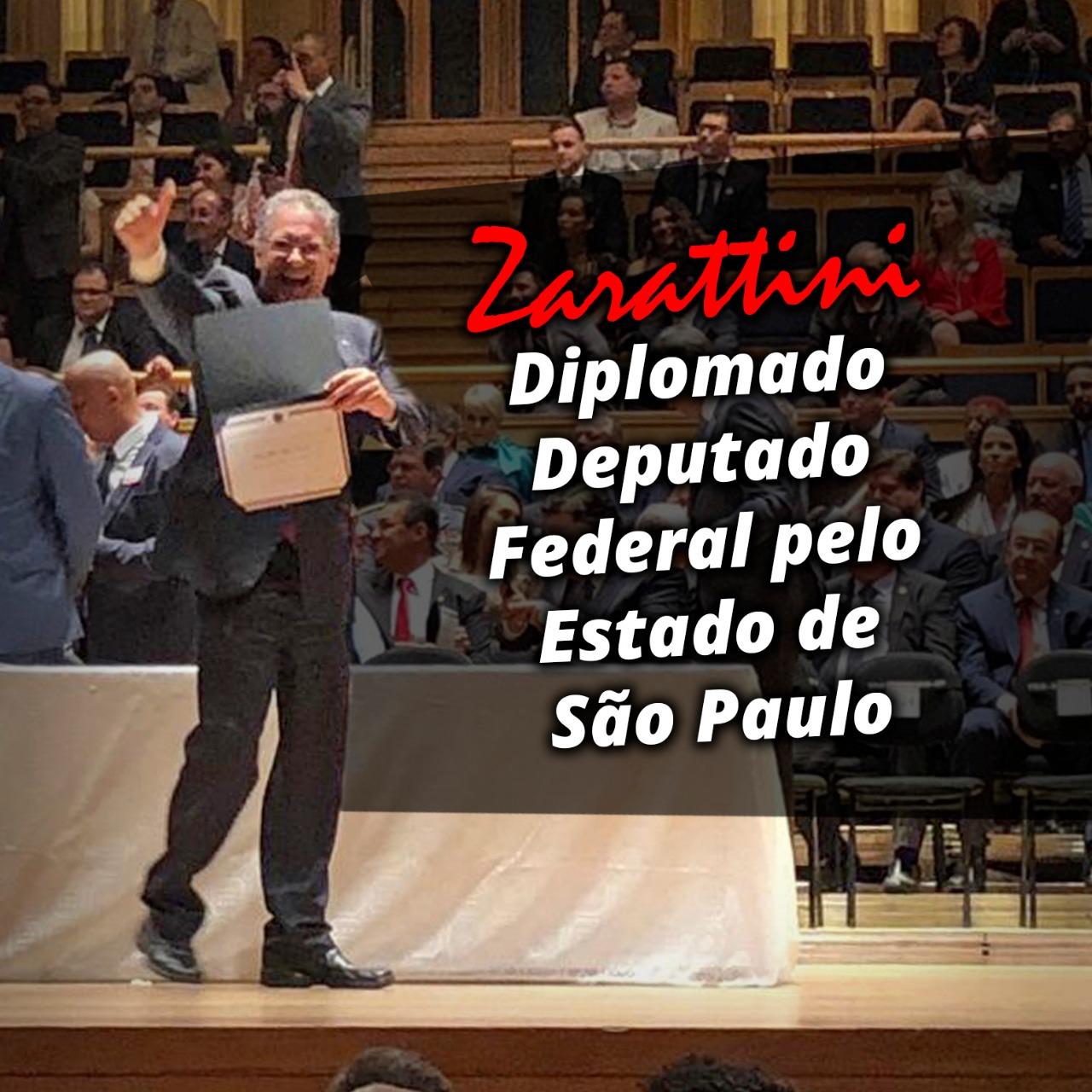 Zarattini é diplomado deputado federal pelo PT de São Paulo