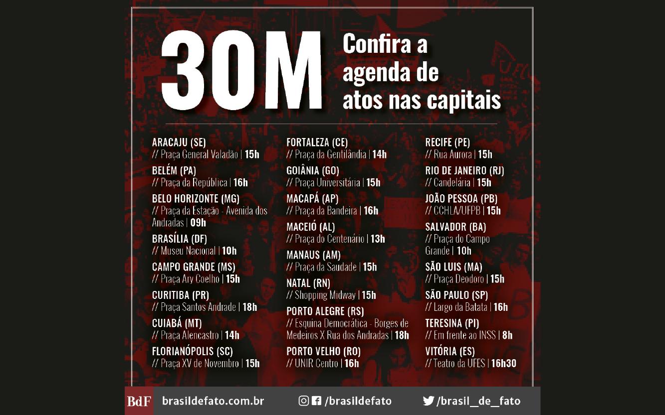 Minuto a Minuto   30m: Brasil em luta pela educação e contra a reforma da Previdência
