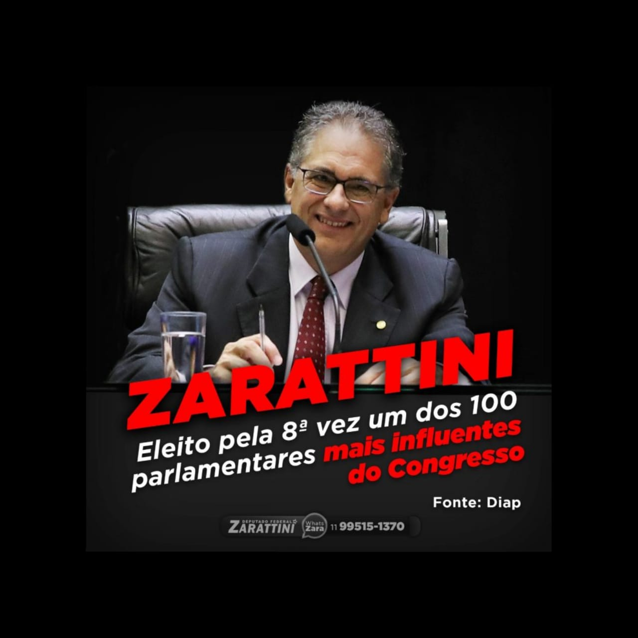 Zarattini é eleito pela 8ª vez um dos parlamentares mais influentes do Congresso Nacional