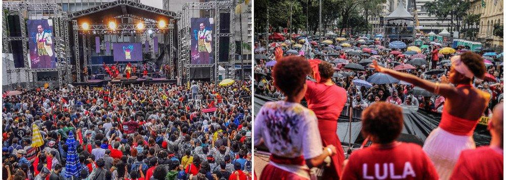 Mesmo sob chuva, Festival Lula Livre reúne milhares em São Paulo