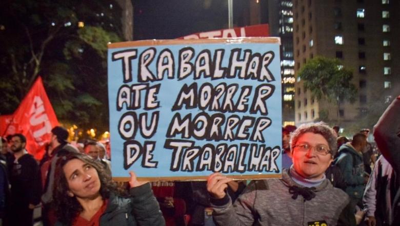 Ato em São Paulo mostra resistência contra Reforma da Previdência