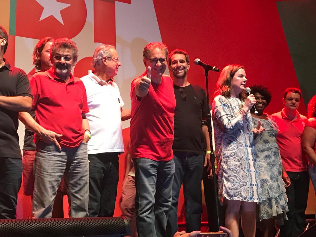 Festival PT 40 Anos: Gleisi e Haddad reacendem orgulho de ser petista