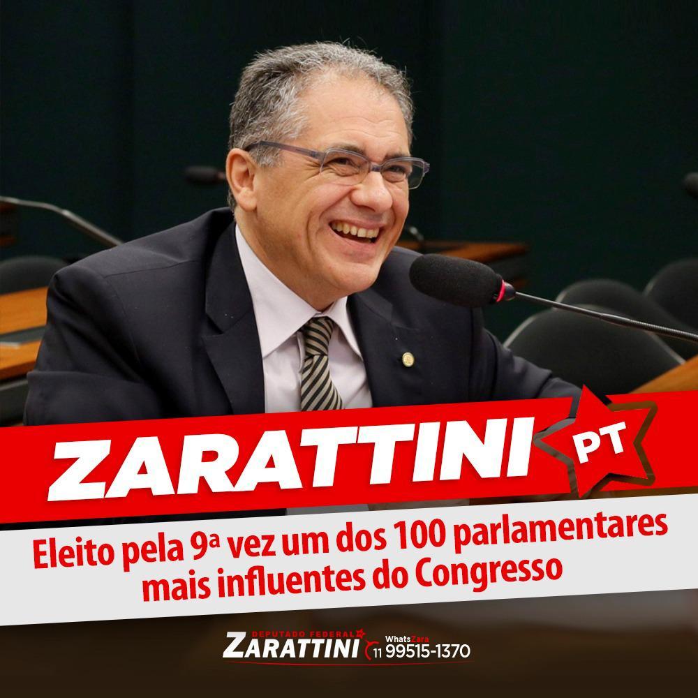 ZARATTINI É ELEITO PELA 9ª VEZ UM DOS PARLAMENTARES MAIS INFLUENTES DO CONGRESSO NACIONAL