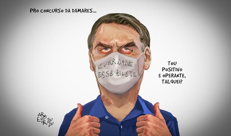 Bolsonaro ganha o mundo como o infectado que desprezou a doença responsável pela morte de 65 mil brasileiros