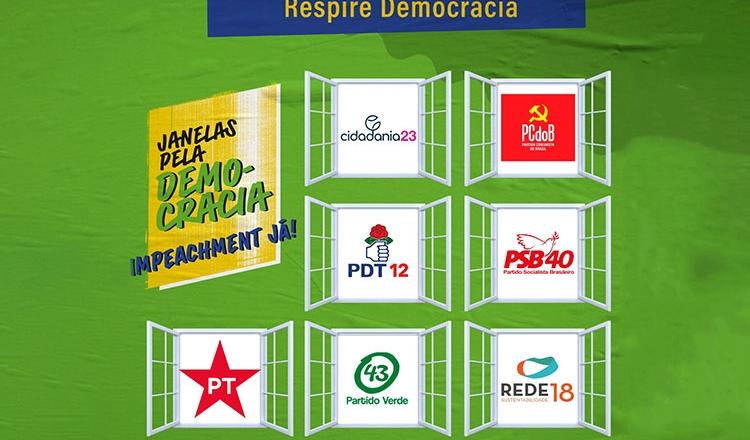 PT participa do 'Janelas pela Democracia', com outros partidos de oposição