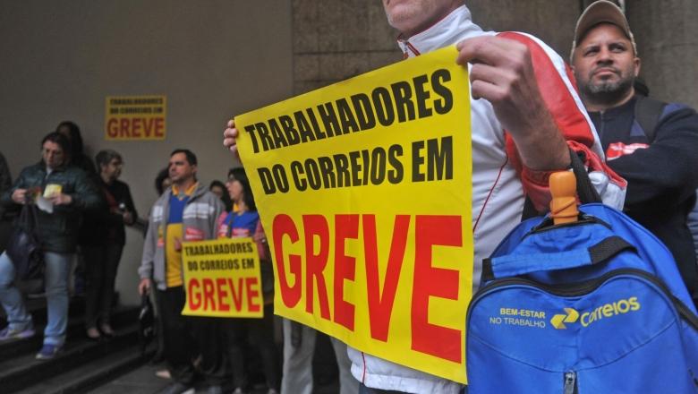 Correios em greve por direitos e contra privatização