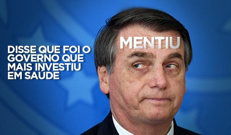É mentira que Bolsonaro é quem mais investiu em saúde; orçamento perdeu R$ 20 bi
