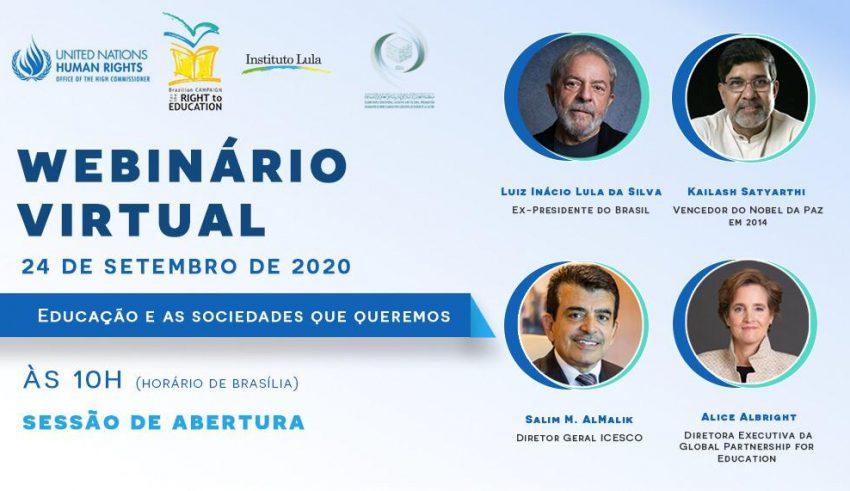 Lula é convidado de honra em seminário internacional sobre direito à educação