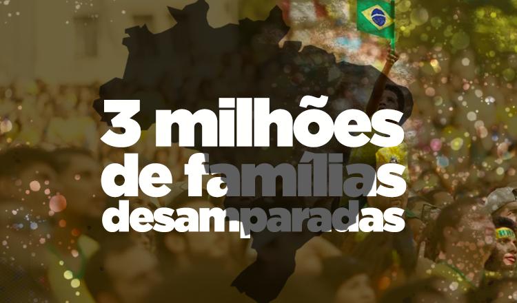 Bolsonaro consegue piorar situação e vai cortar 3 milhões de famílias de programa social que nem existe ainda
