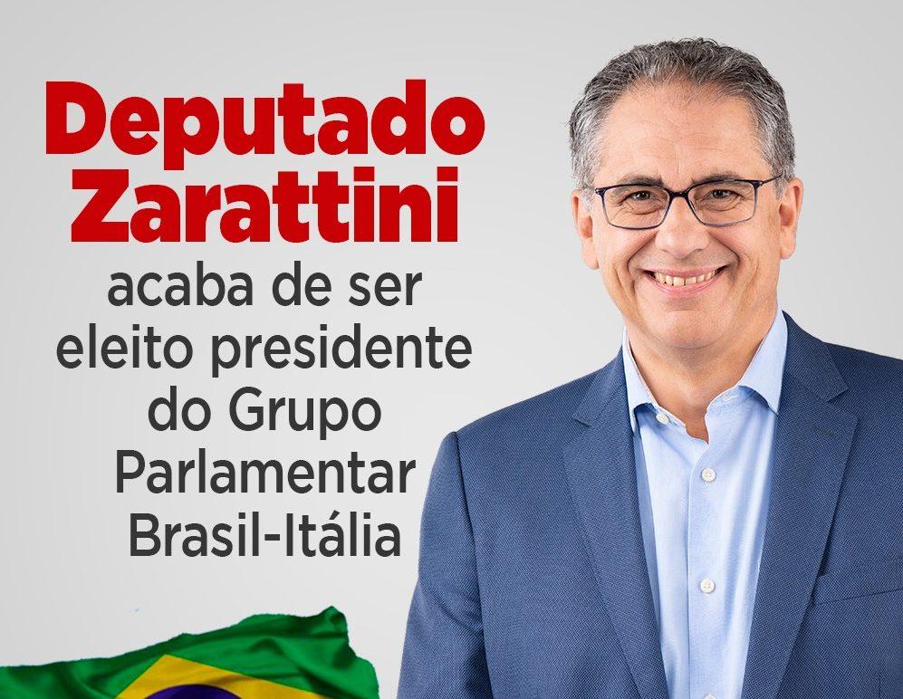 Deputado Zarattini é eleito presidente do grupo parlamentar Brasil-Itália