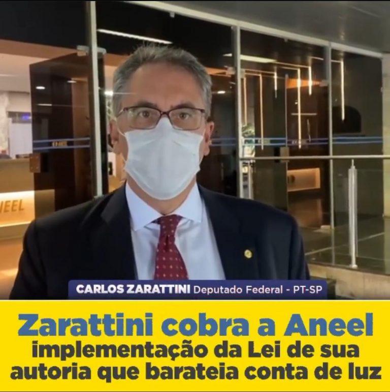 ZARATTINI COBRA AGILIDADE NA IMPLEMENTAÇÃO DA LEI QUE PODE BAIXAR CONTA DE LUZ