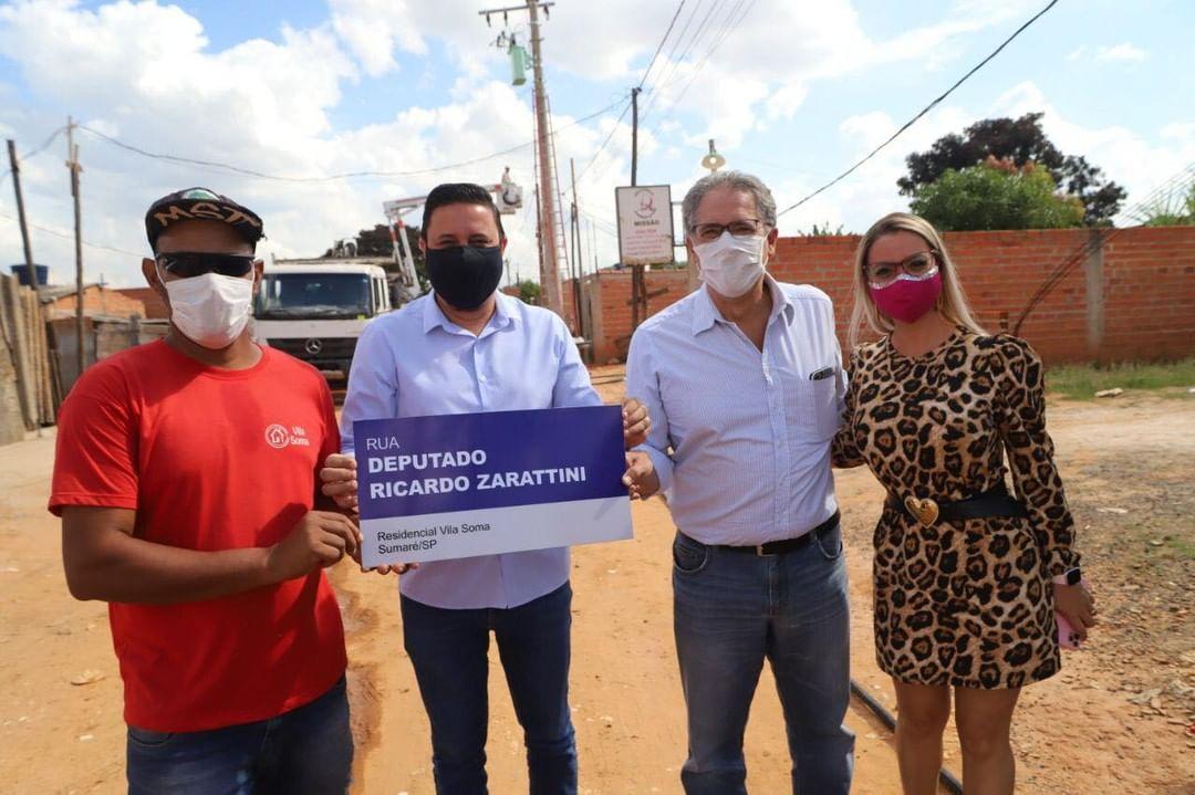 Vila Soma registra nome de rua em homenagem ao ex-deputado Ricardo Zarattini.