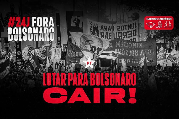 #24J: Campanha Fora Bolsonaro reforça convocação para manifestação