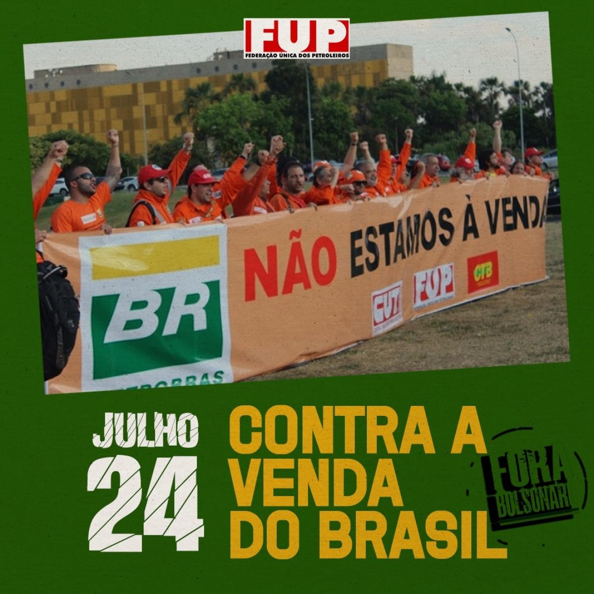 """É neste sábado: FUP e sindicatos nas ruas por """"Fora Bolsonaro"""". Veja os locais dos atos"""