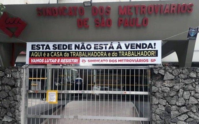 Doria vende a sede do Sindicato dos Metroviários para enfraquecer luta sindical, por Carlos Zarattini