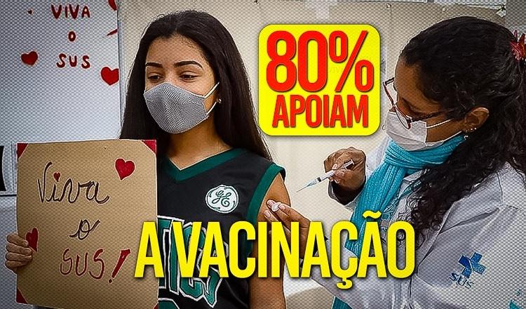 Covid: na contramão de Bolsonaro, mais de 80% dos brasileiros apoiam vacina