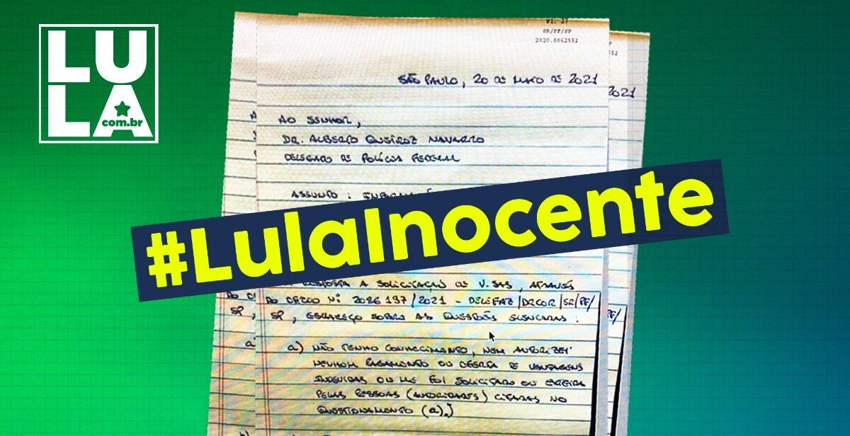 Léo Pinheiro escreveu carta de próprio punho para voltar atrás em acusações que fez contra Lula