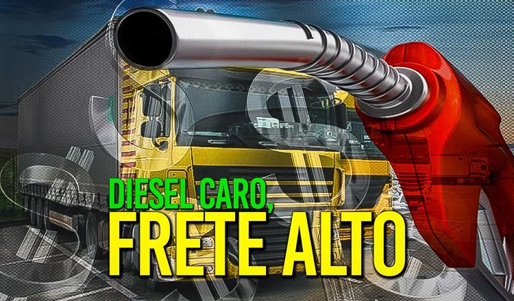 Dolarização dos combustíveis inflaciona fretes e aumenta preços