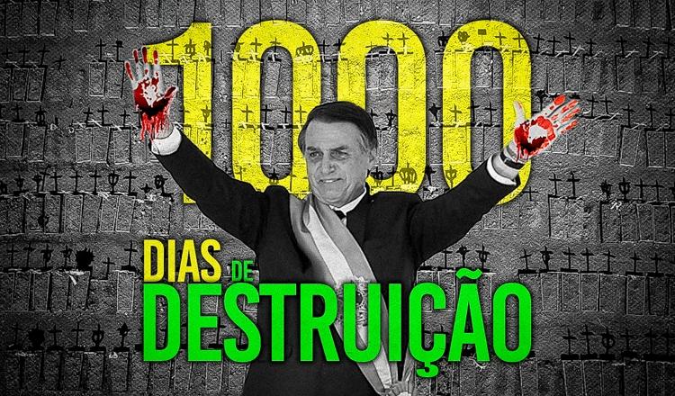 Em 1.000 dias, Bolsonaro mostrou como destruir um país