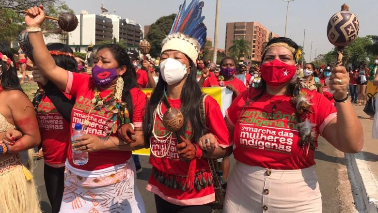 Marcha Nacional é marcada por protagonismo das mulheres indígenas