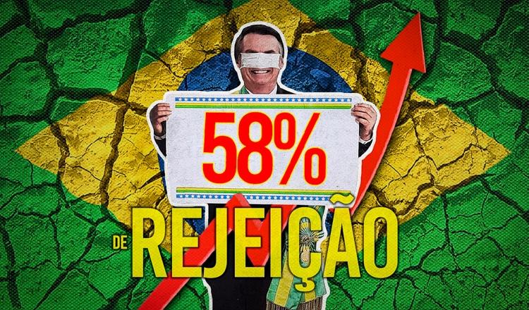 Rejeição a Bolsonaro atinge recorde de 58%, segundo pesquisa