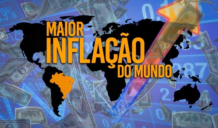 Inflação do Brasil neste ano será maior que a de 83% dos países
