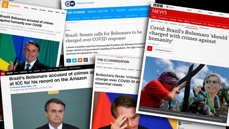 Indiciamento de Bolsonaro por crimes contra a humanidade ganha o mundo